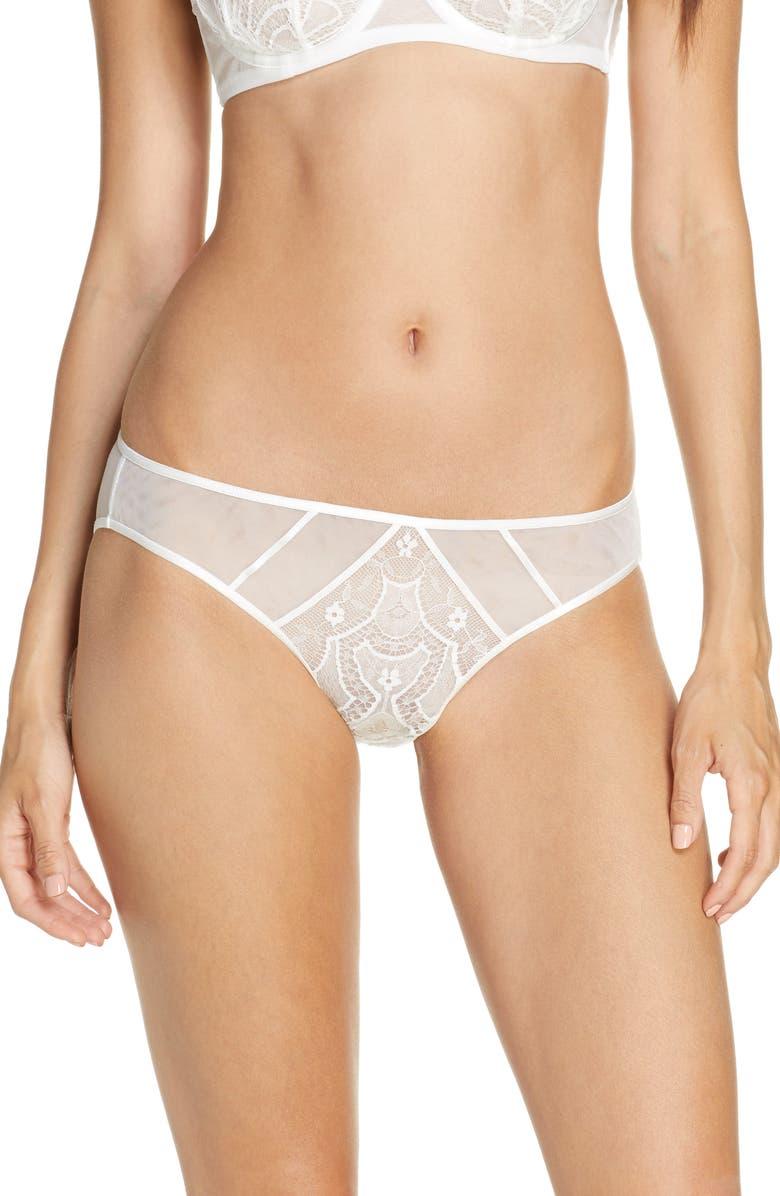 DITA VON TEESE Maestra Lace Bikini, Main, color, WHITE
