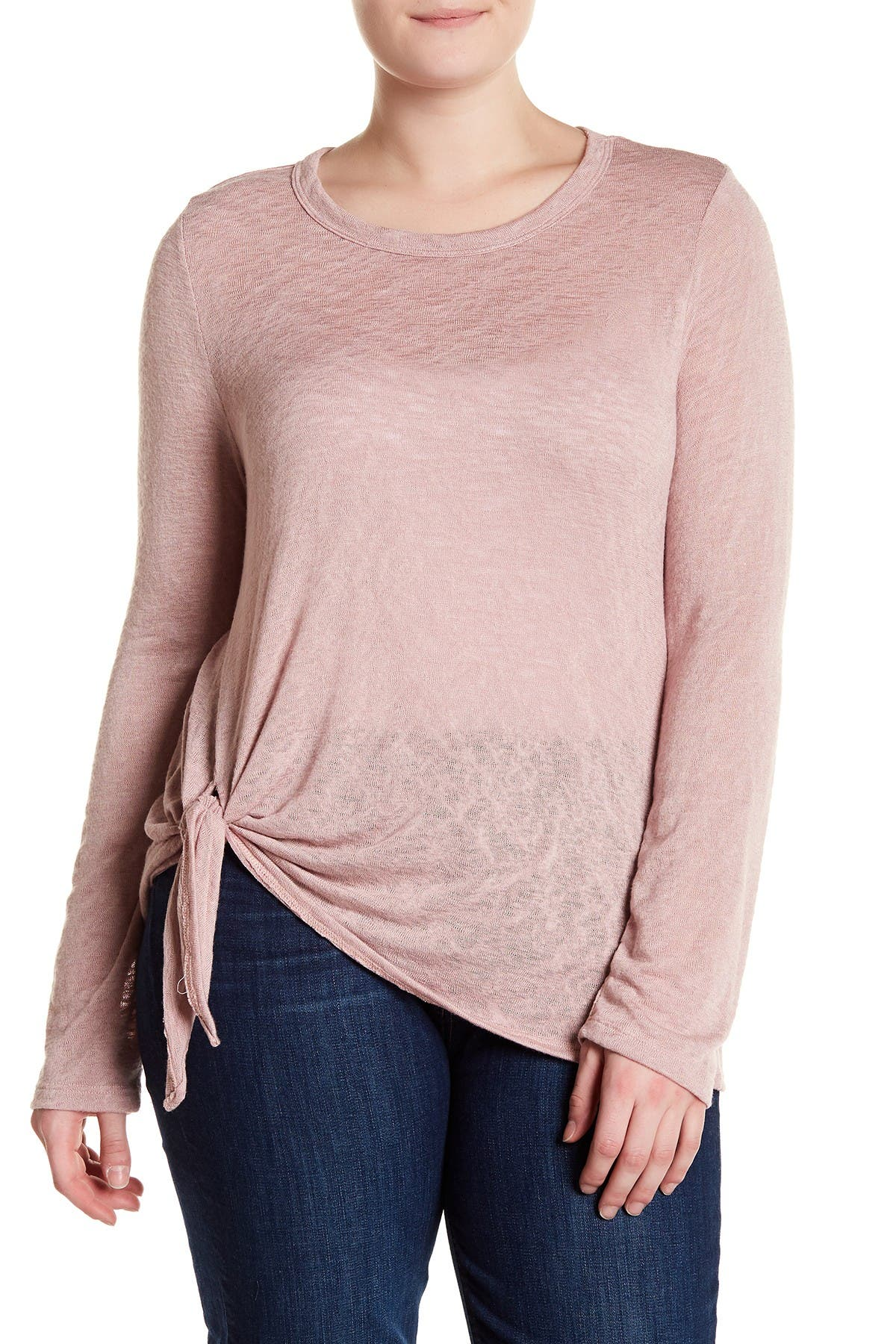 Image of Bobeau Tie-Front Knit Top