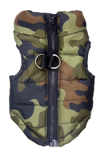 Image of Dogs of Glamour Large Green Camo Vest