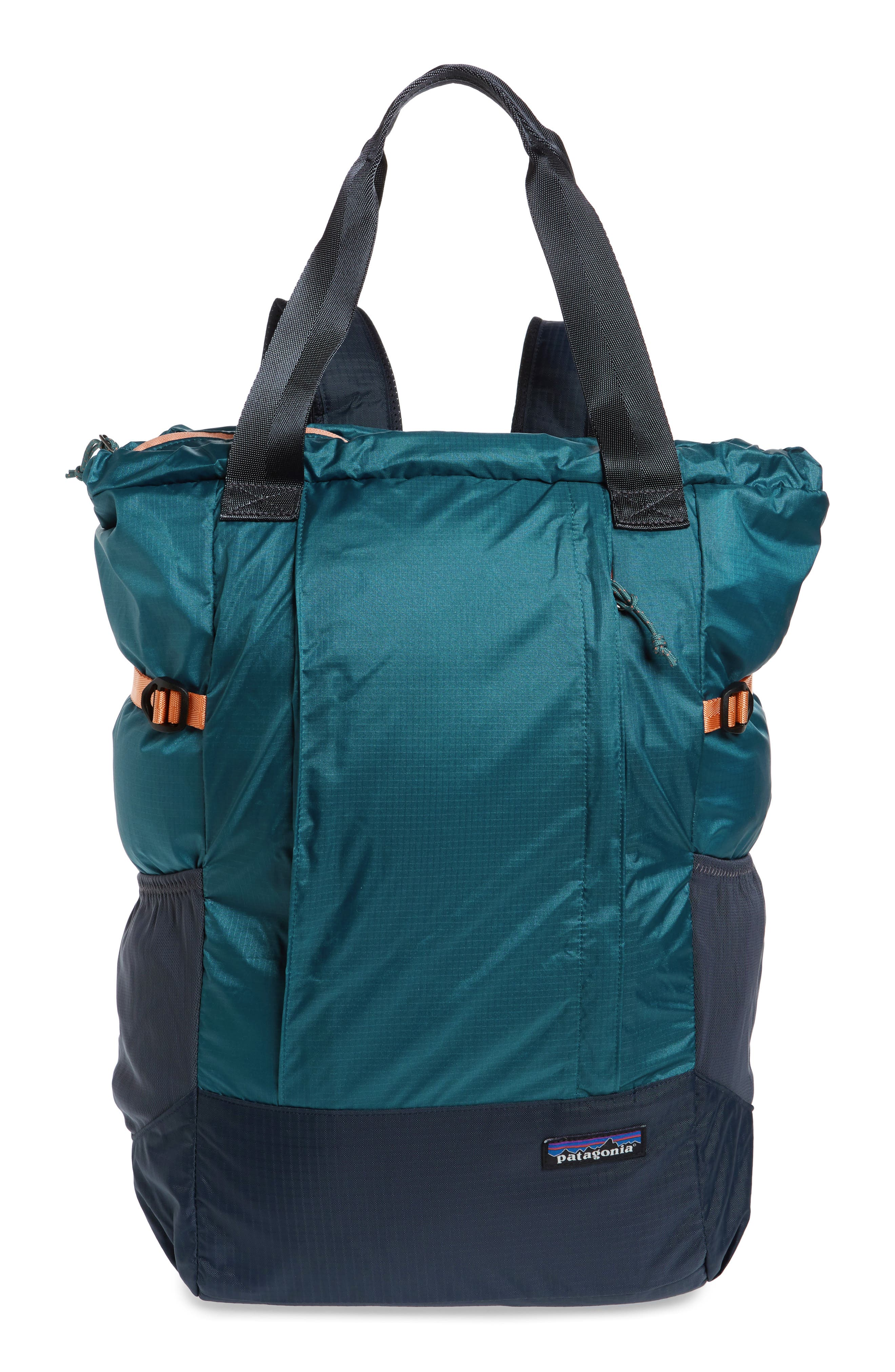 ,                             Lightweight Travel Tote Pack,                             Main thumbnail 1, color,                             TASMANIAN TEAL