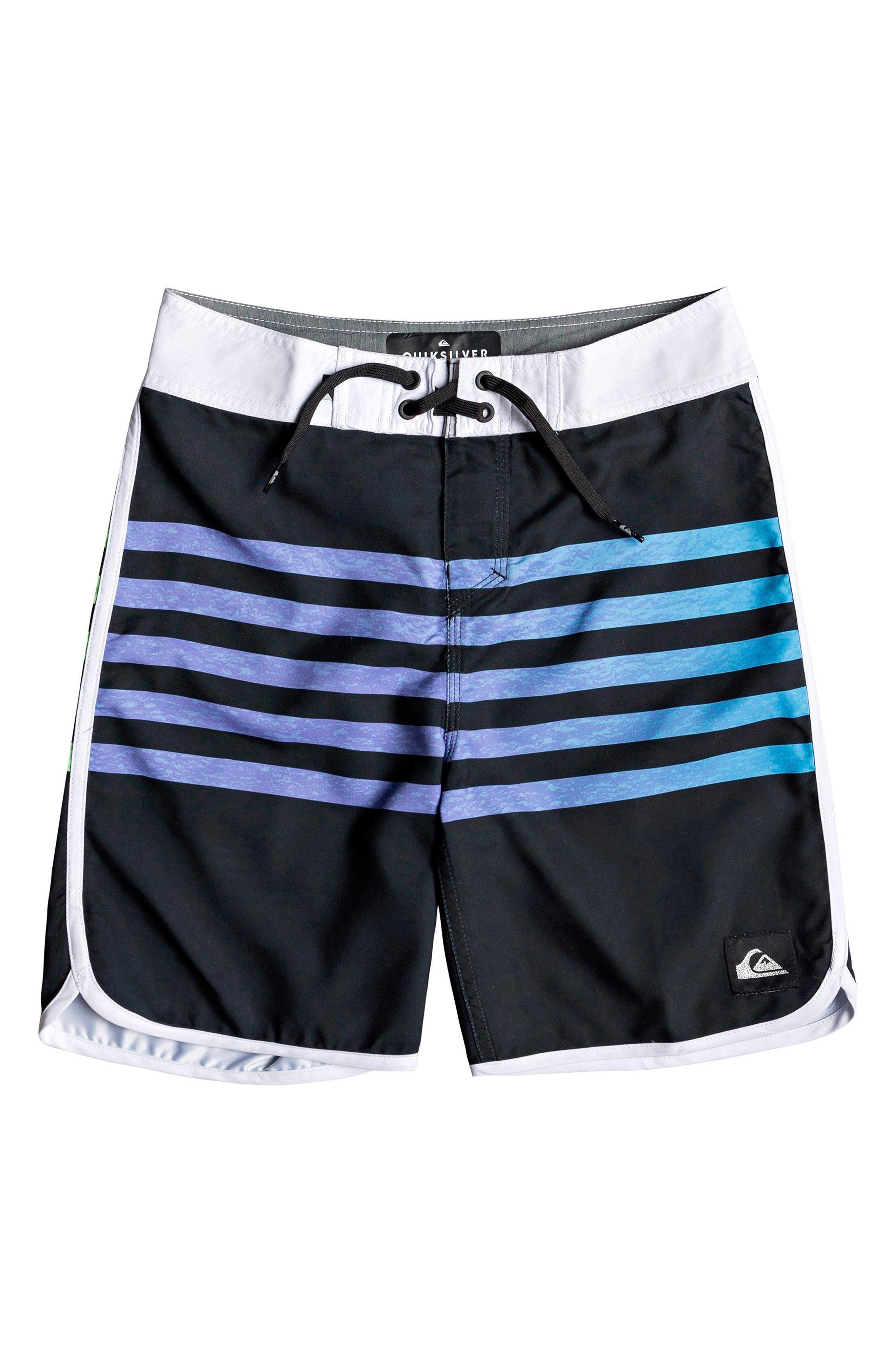 Boys Quiksilver Everyday Grass Roots Board Shorts Size 30  Black