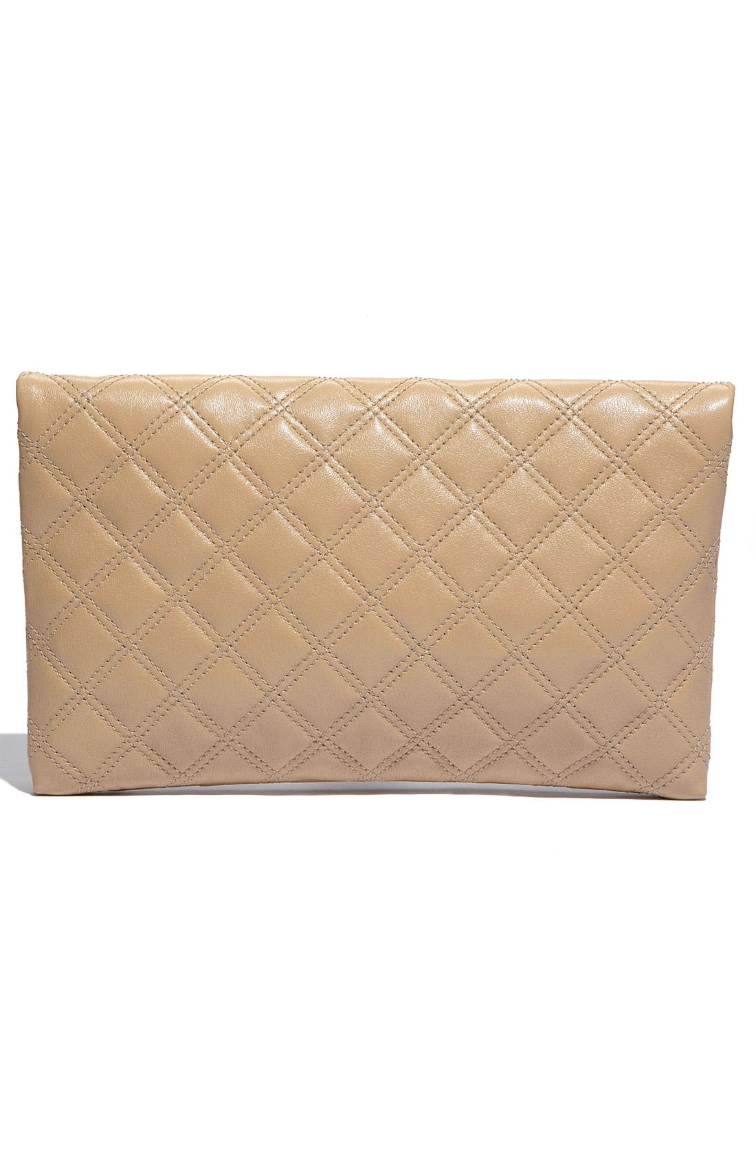 ,                             'Quilting - Eugenie' Leather Clutch,                             Alternate thumbnail 8, color,                             255