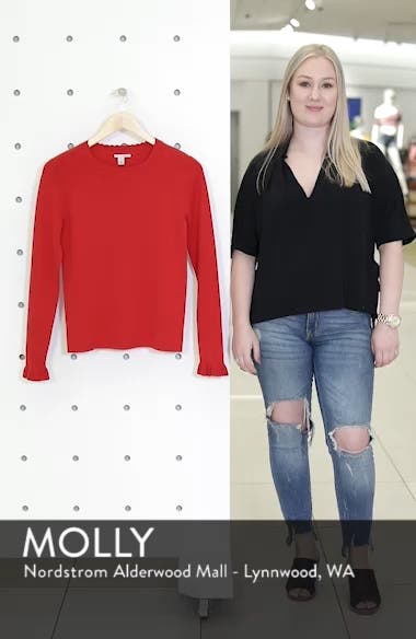 Scallop Trim Sweater, sales video thumbnail