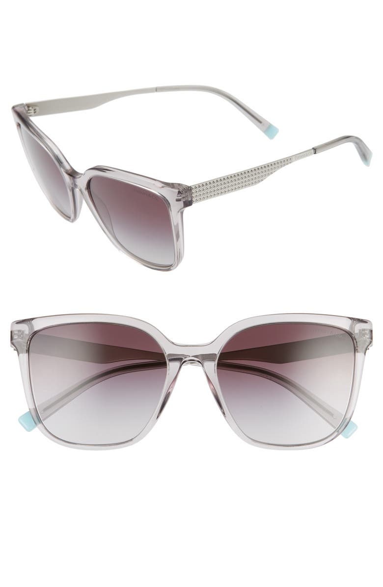 TIFFANY & CO. 54mm Gradient Sunglasses, Main, color, TRANS GREY/ GREY GRADIENT