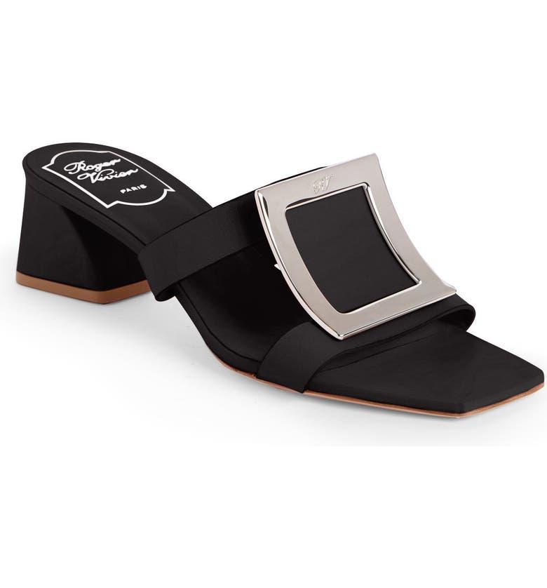ROGER VIVIER Bikiviv Slide Sandal, Main, color, BLACK