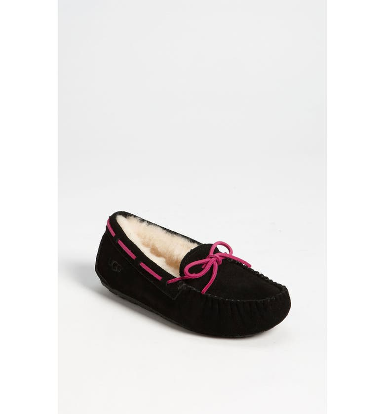 UGG<SUP>®</SUP> 'Dakota' Moccasin, Main, color, RAVEN BLACK
