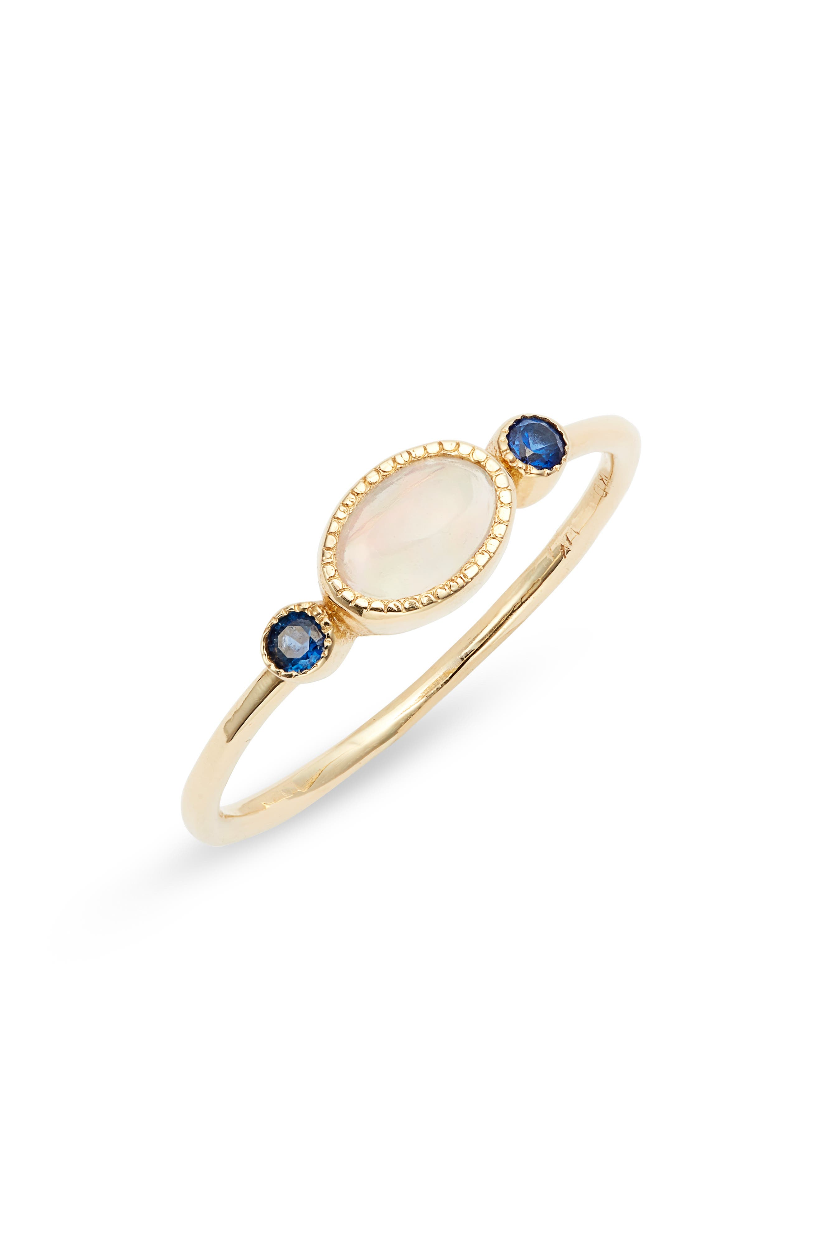 Reese Sapphire & Opal Ring