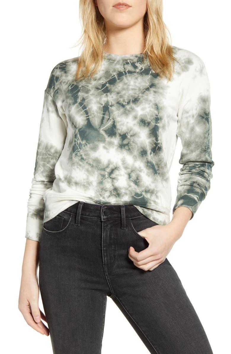 STATESIDE Tie Dye Fleece Sweatshirt, Main, color, 301