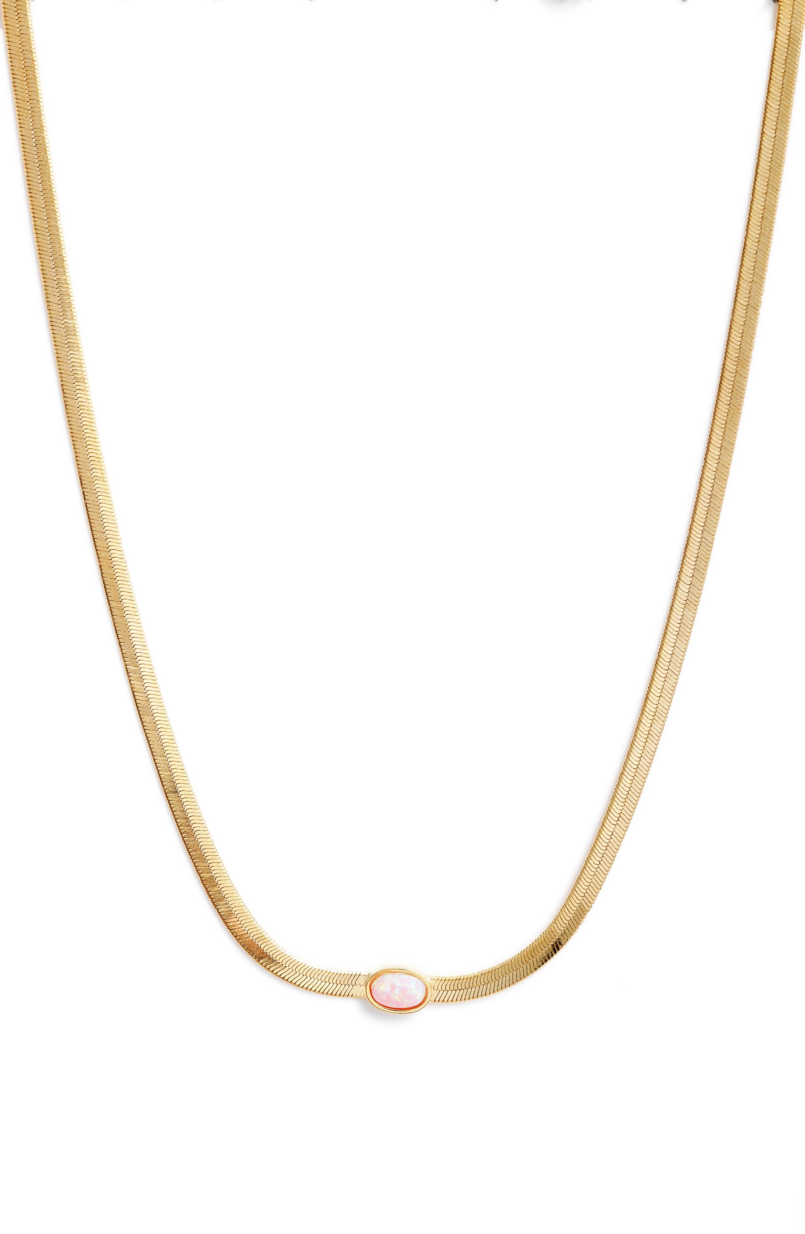 Opal Herringbone Necklace