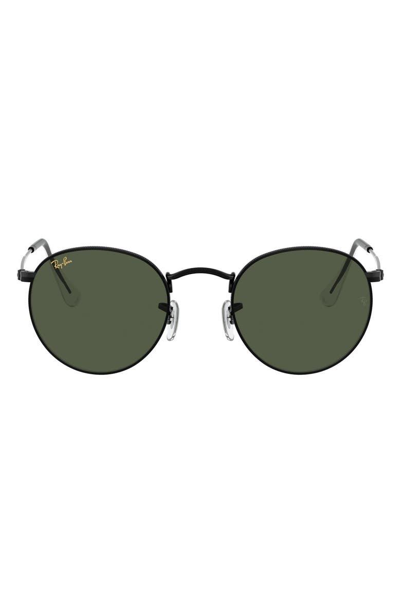RAY-BAN Icons 53mm Retro Sunglasses, Main, color, 001