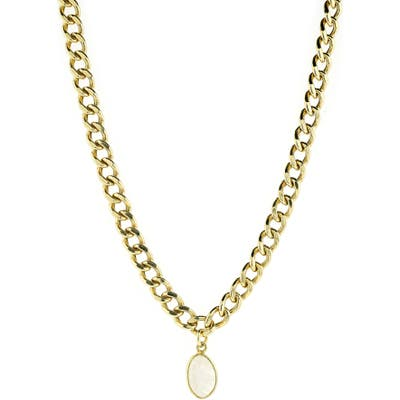 Adornia Curb Chain Pendant Necklace