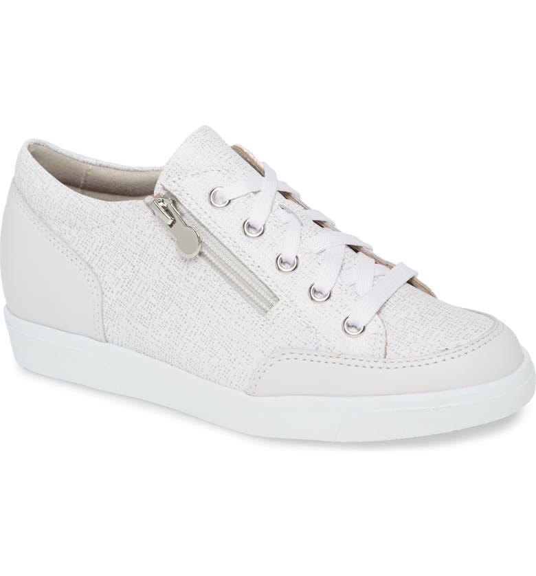 MUNRO Gabbie Sneaker, Main, color, WHITE LEATHER