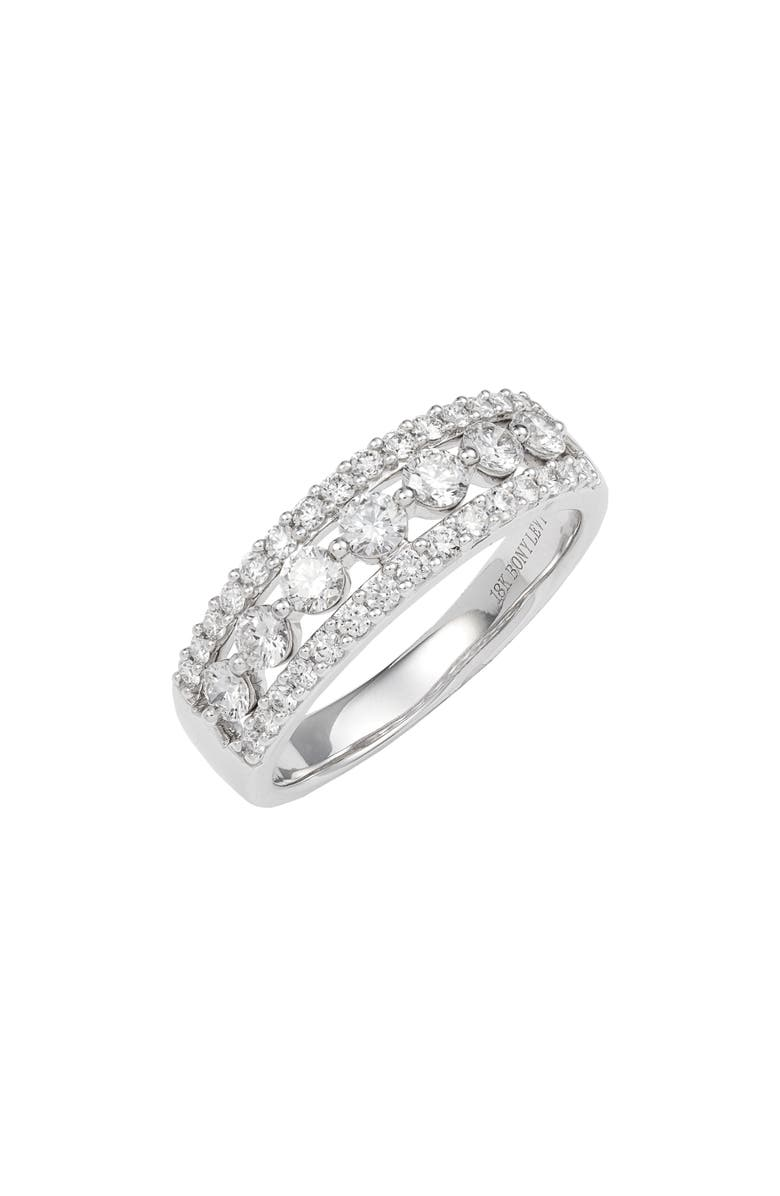 BONY LEVY Luxe Mixed Diamond Band Ring, Main, color, WHITE GOLD/ DIAMOND