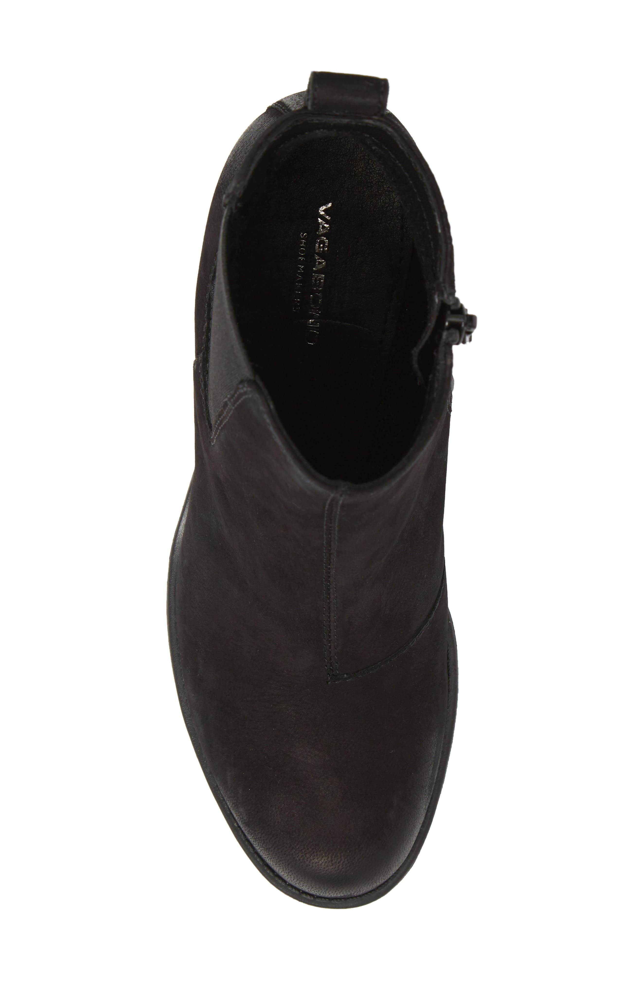 ,                             Grace Chelsea Bootie,                             Alternate thumbnail 5, color,                             BLACK NUBUCK