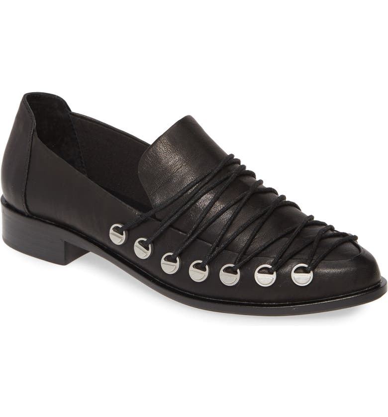 KELSI DAGGER BROOKLYN Alamosa Loafer, Main, color, BLACK LEATHER
