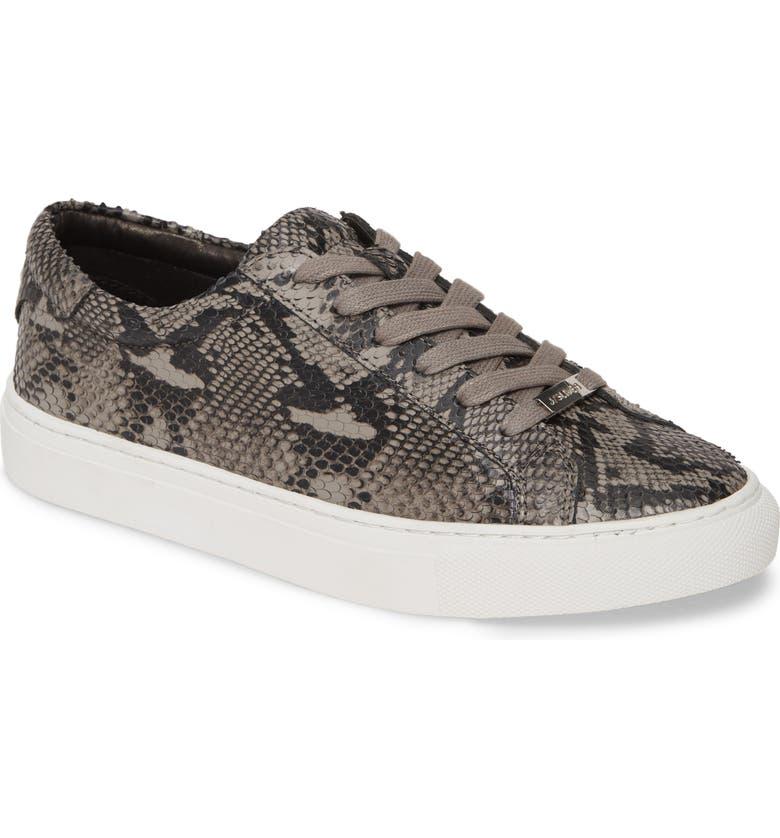 JSLIDES Lacee Sneaker, Main, color, BLACK/ GREY LEATHER