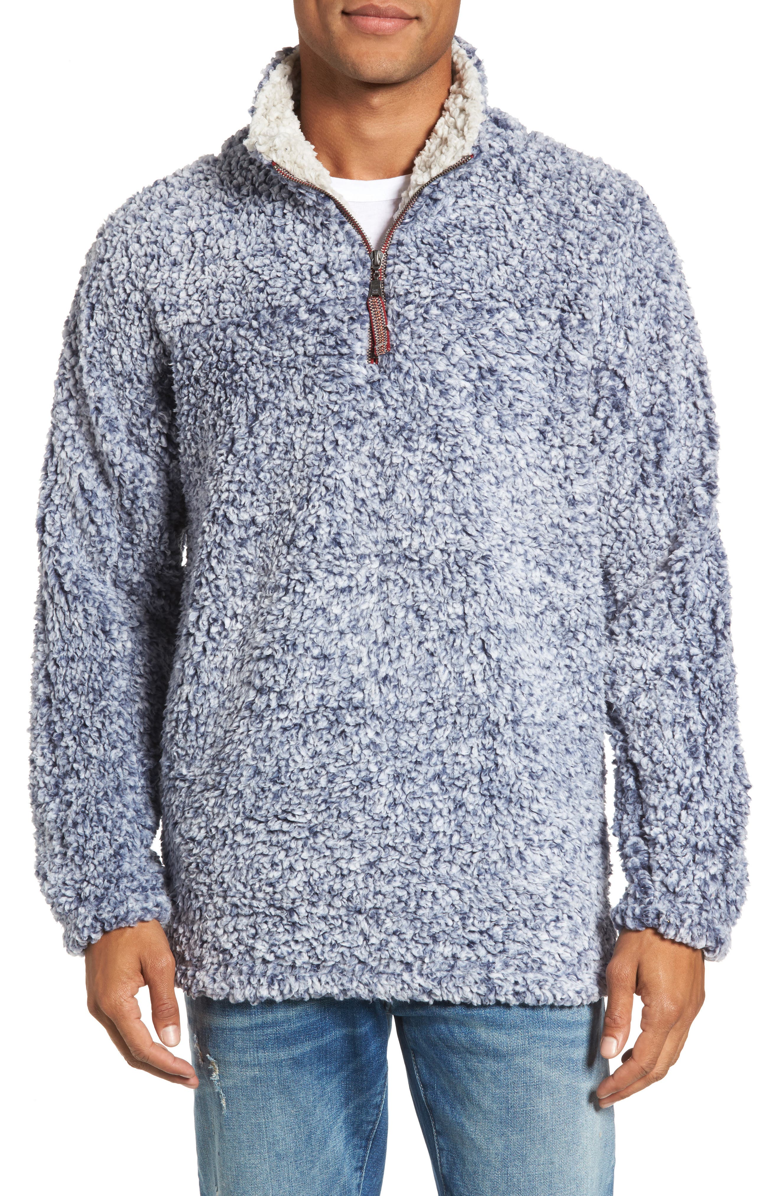 ,                             Frosty Tipped Quarter Zip Pullover,                             Main thumbnail 29, color,                             420