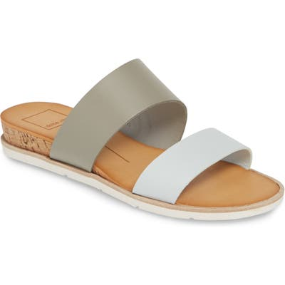 Dolce Vita Vala Wedge Slide Sandal, Grey