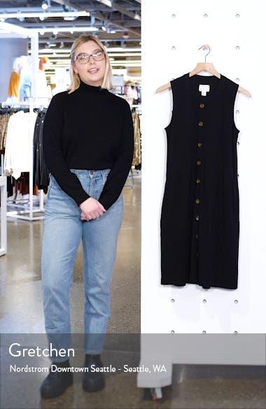 Button Drop-Waist Knit Dress, sales video thumbnail