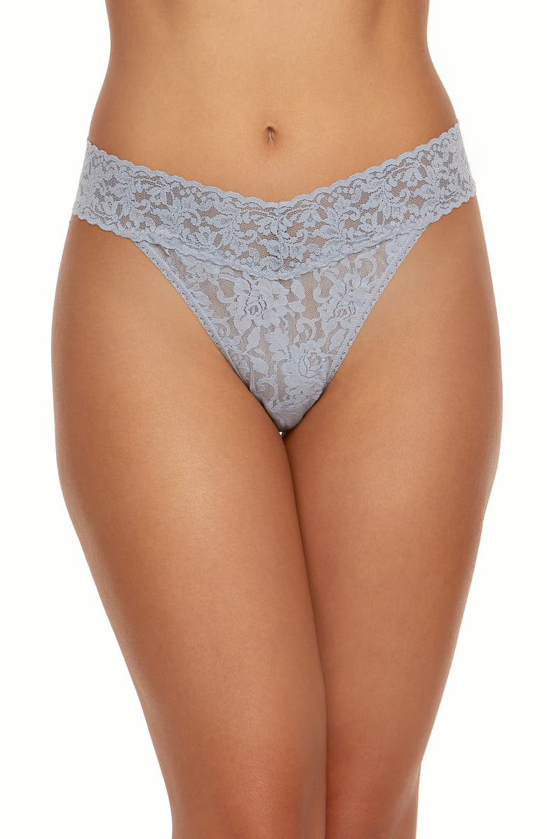 HANKY PANKY Regular Rise Lace Thong, Main, color, SHNG ARMOR