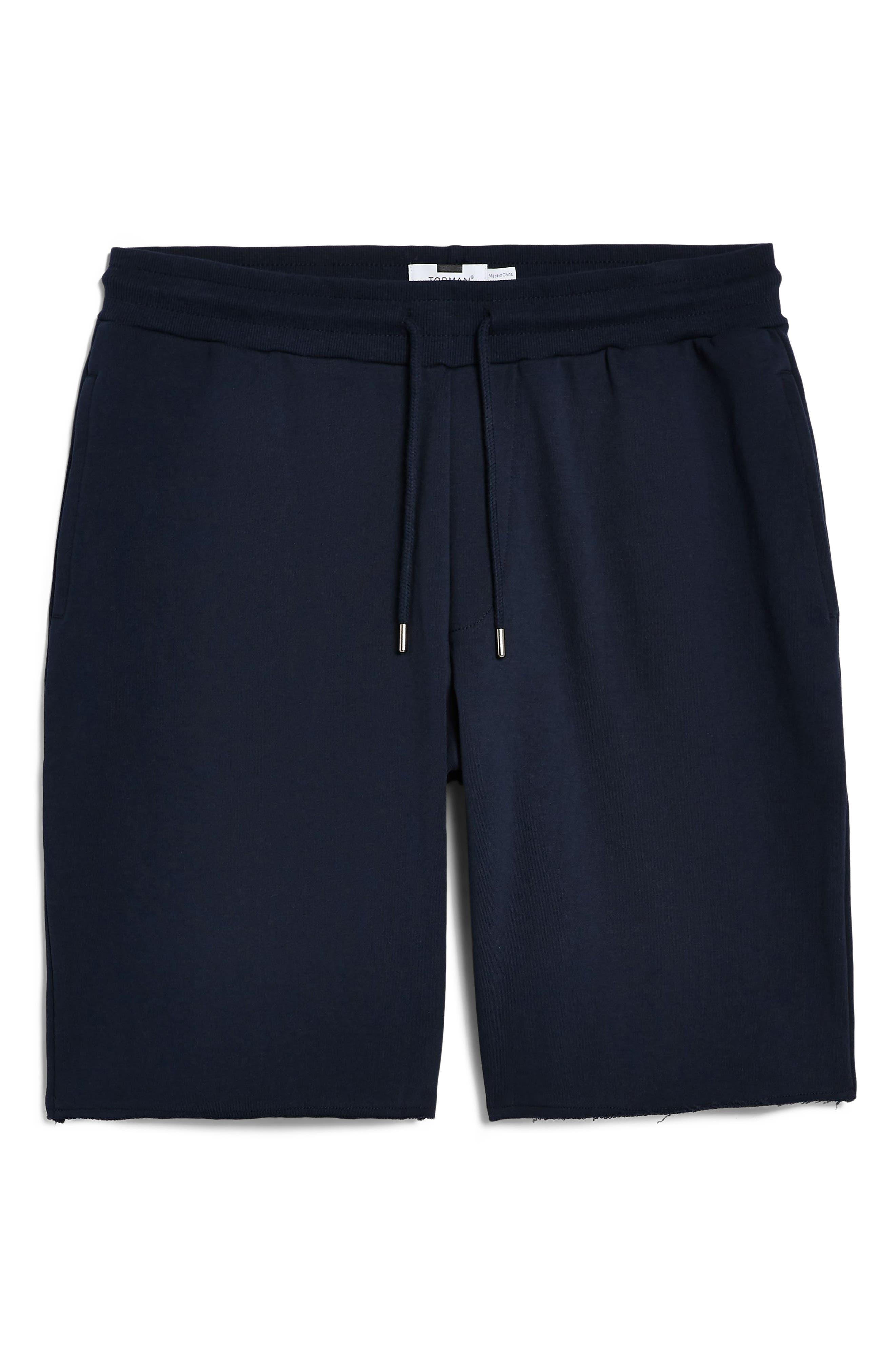 ,                             Jersey Sweat Shorts,                             Alternate thumbnail 4, color,                             NAVY BLUE