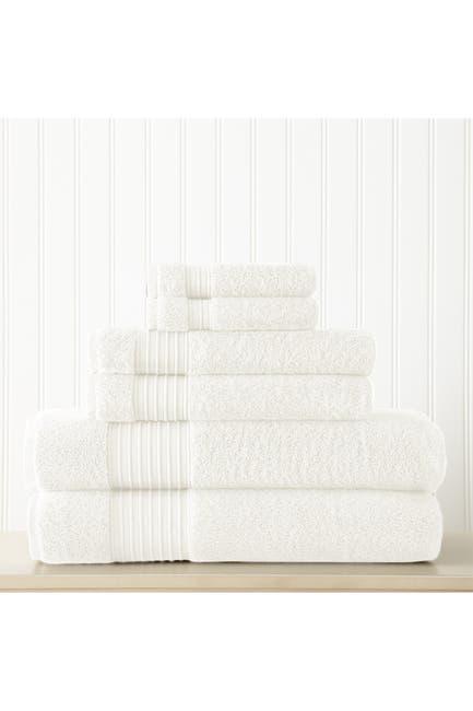 Image of Modern Threads 6-Piece Turkish Cotton Towel Set - White