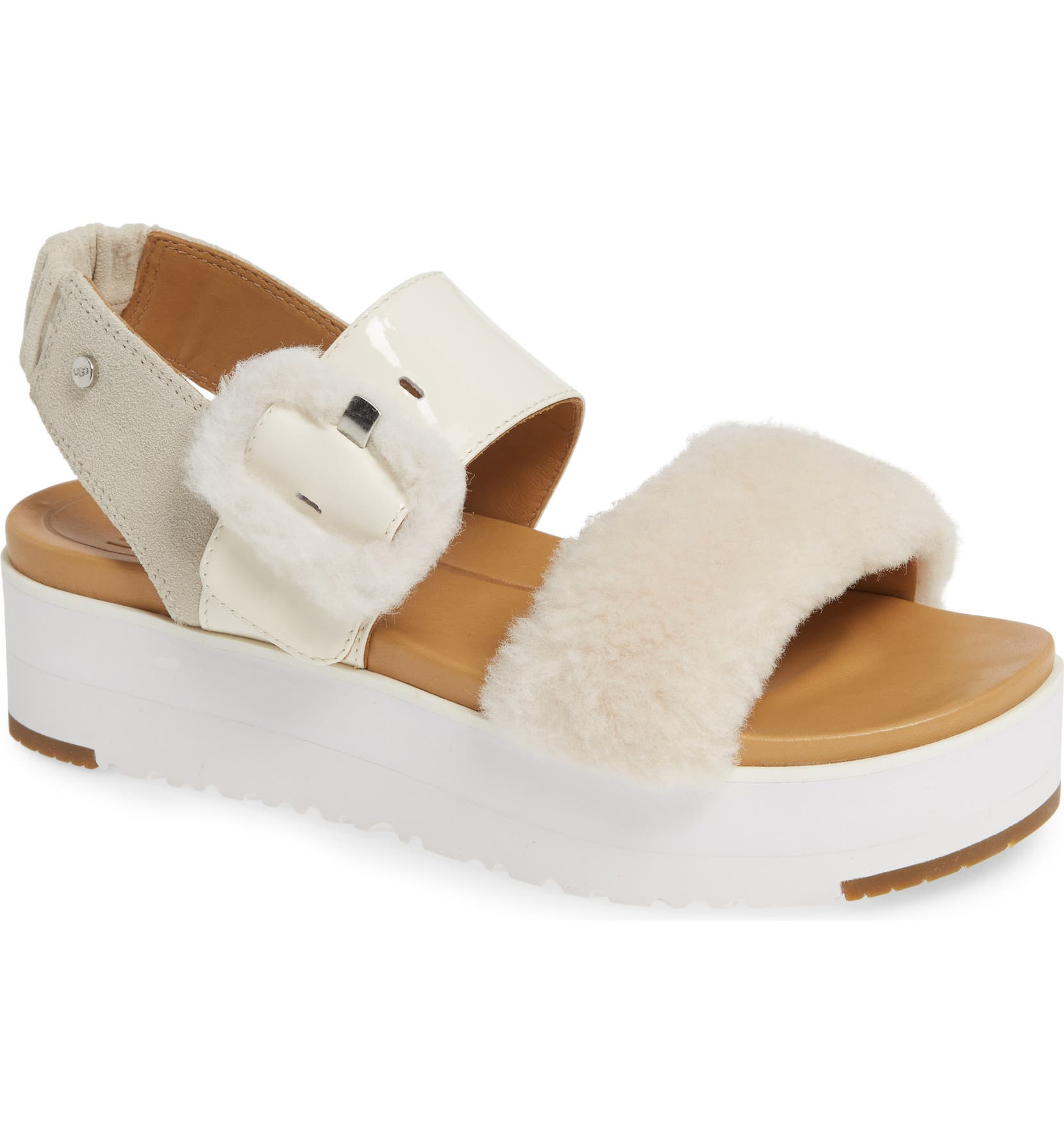 4831a58414 UGG® Le Fluff Flatform Sandal (Women) | Nordstrom