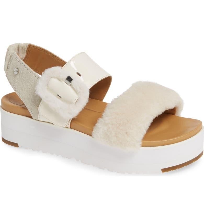 UGG<SUP>®</SUP> Le Fluff Flatform Sandal, Main, color, 110
