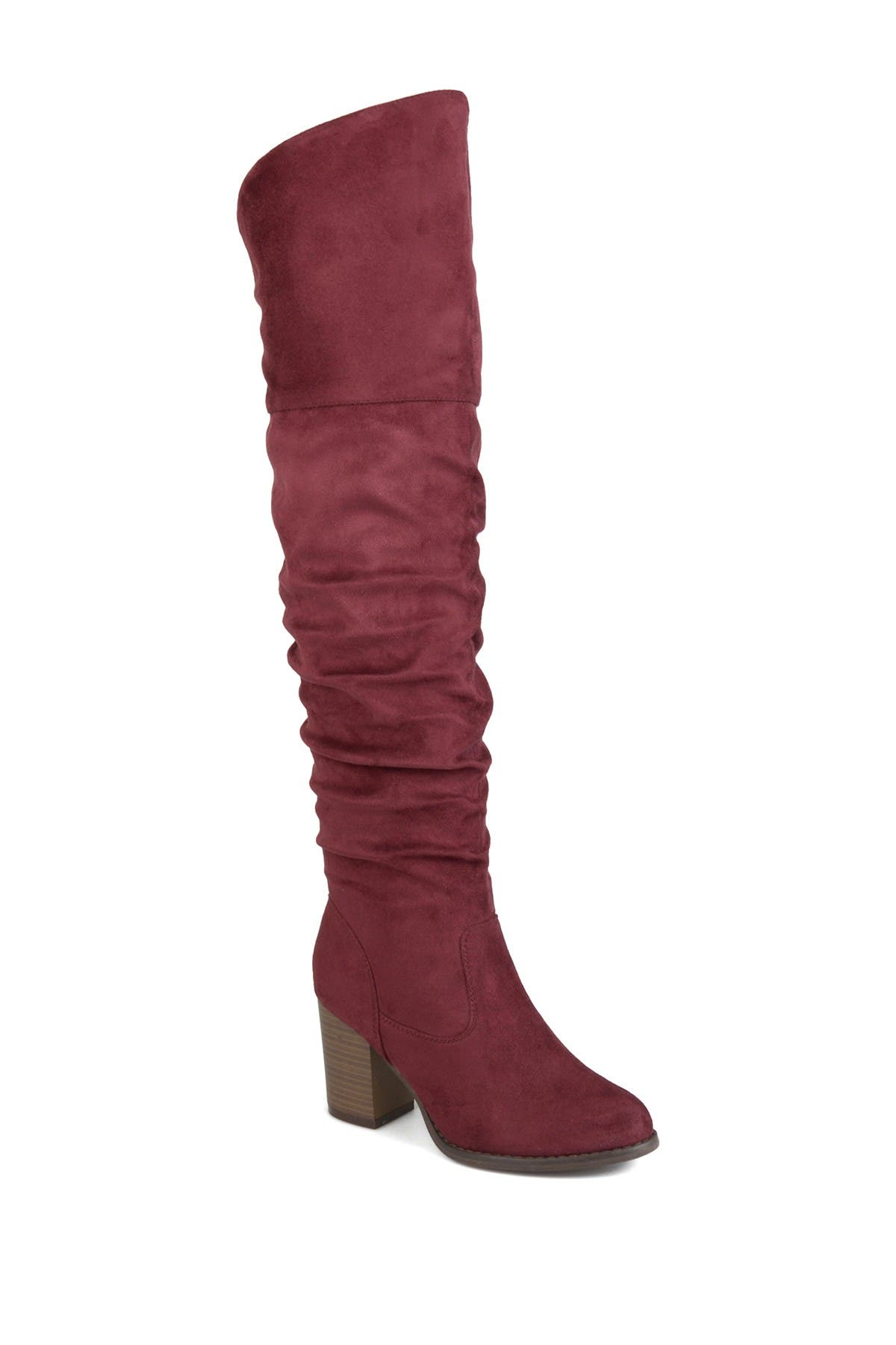 Image of JOURNEE Collection Kaison Ruched Tall Boot