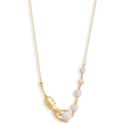 Kate Spade New York House Cat Pave Necklace