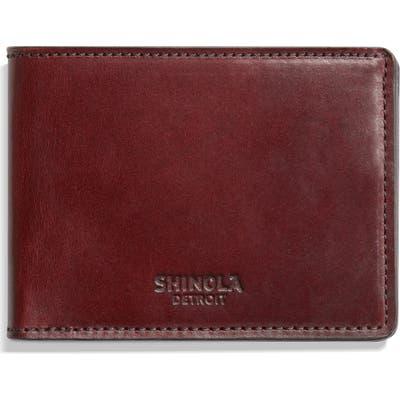 Shinola Harness Slim 2.0 Bifold Leather Wallet - Red