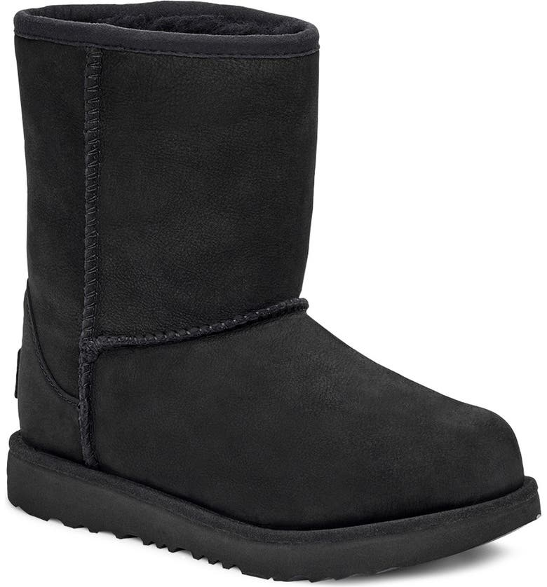 UGG<SUP>®</SUP> Classic Short II Waterproof Boot, Main, color, BLACK