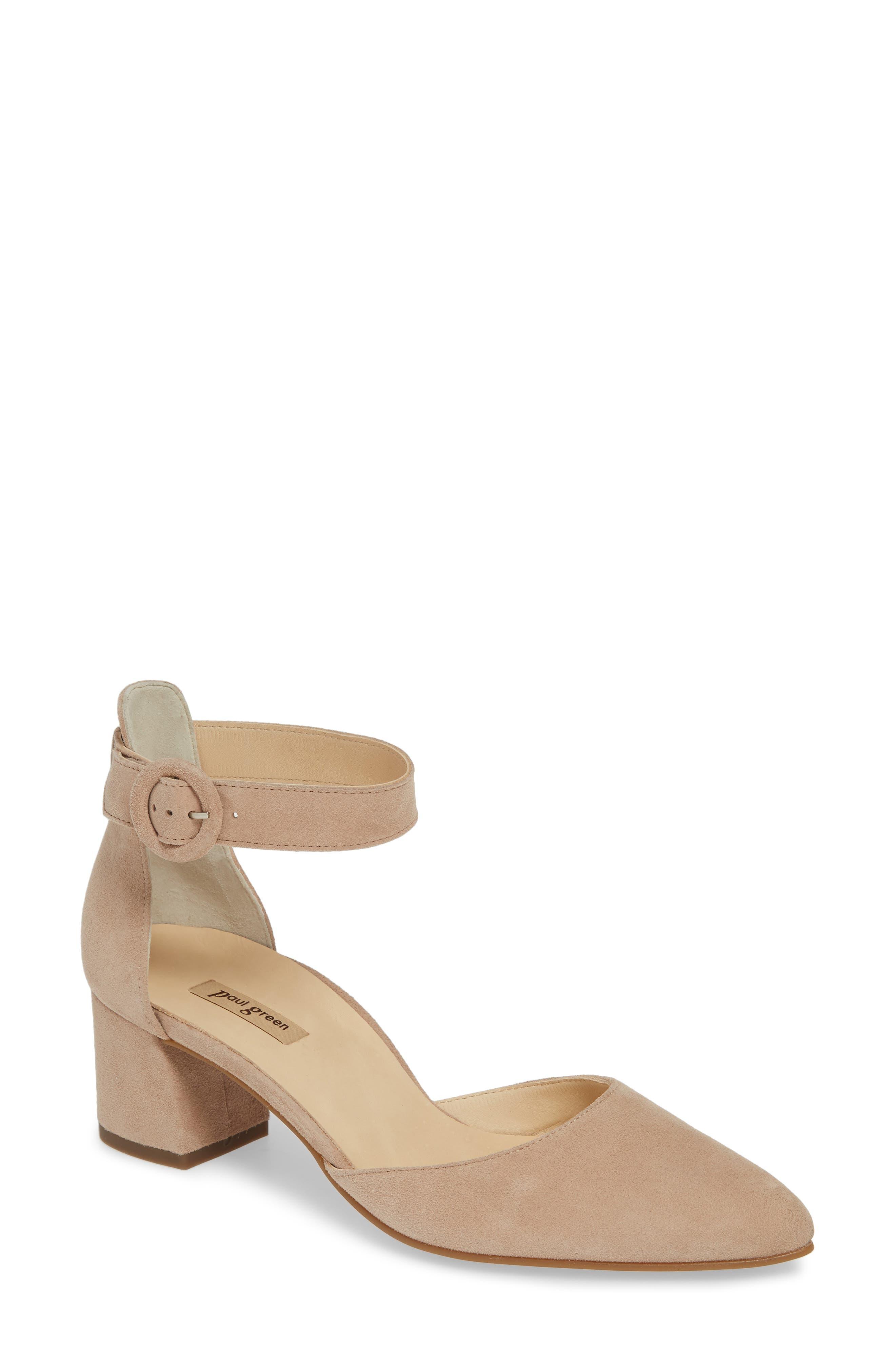 Paul Green Annie Ankle Strap Pump - Beige
