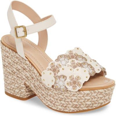 Coach Jae Tea Rose Espadrille Platform Sandal