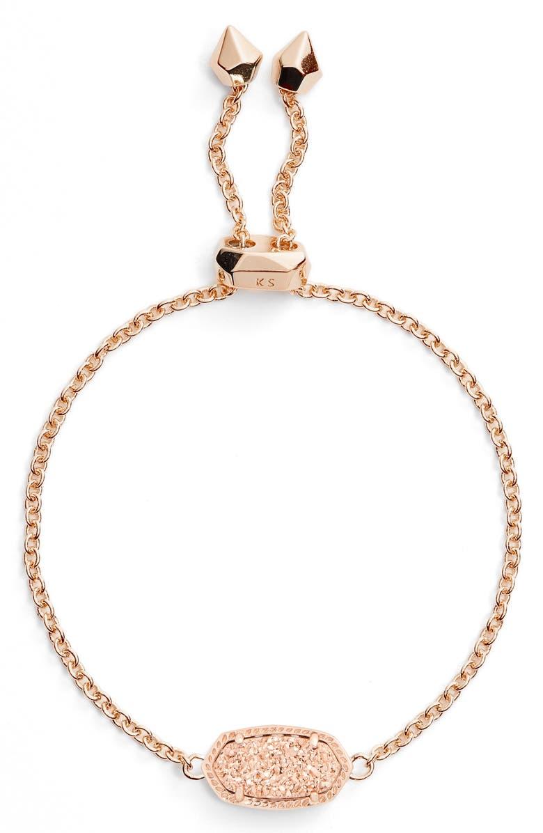 KENDRA SCOTT Elaina Bracelet, Main, color, ROSE GOLD DRUSY/ ROSE GOLD