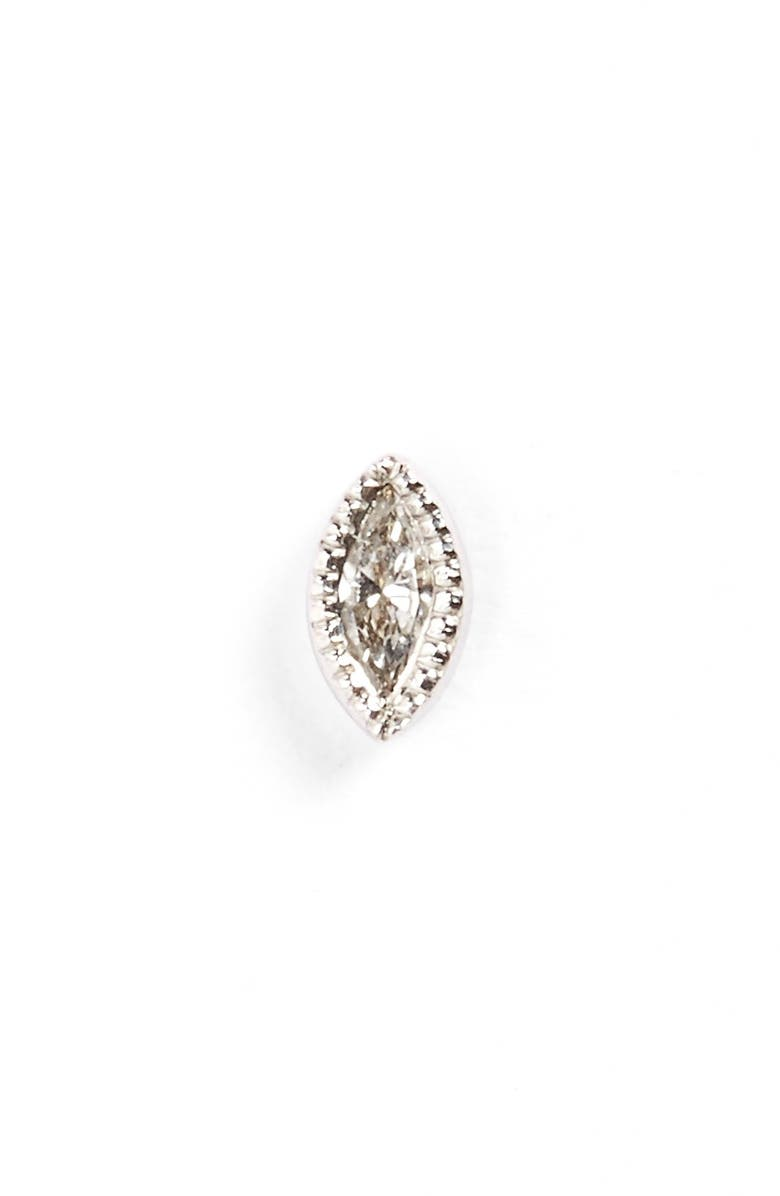 MARIA TASH Marquise Diamond Stud Earring, Main, color, WHITE
