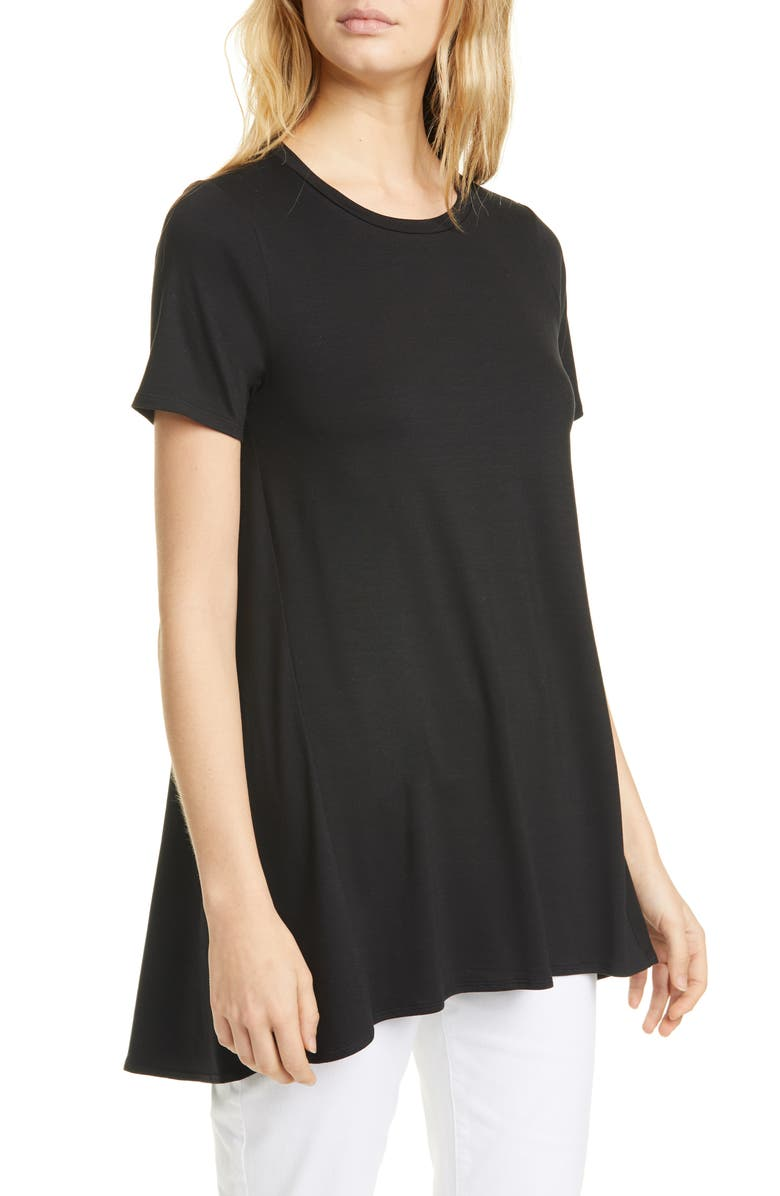 EILEEN FISHER A-Line Tunic, Main, color, BLACK