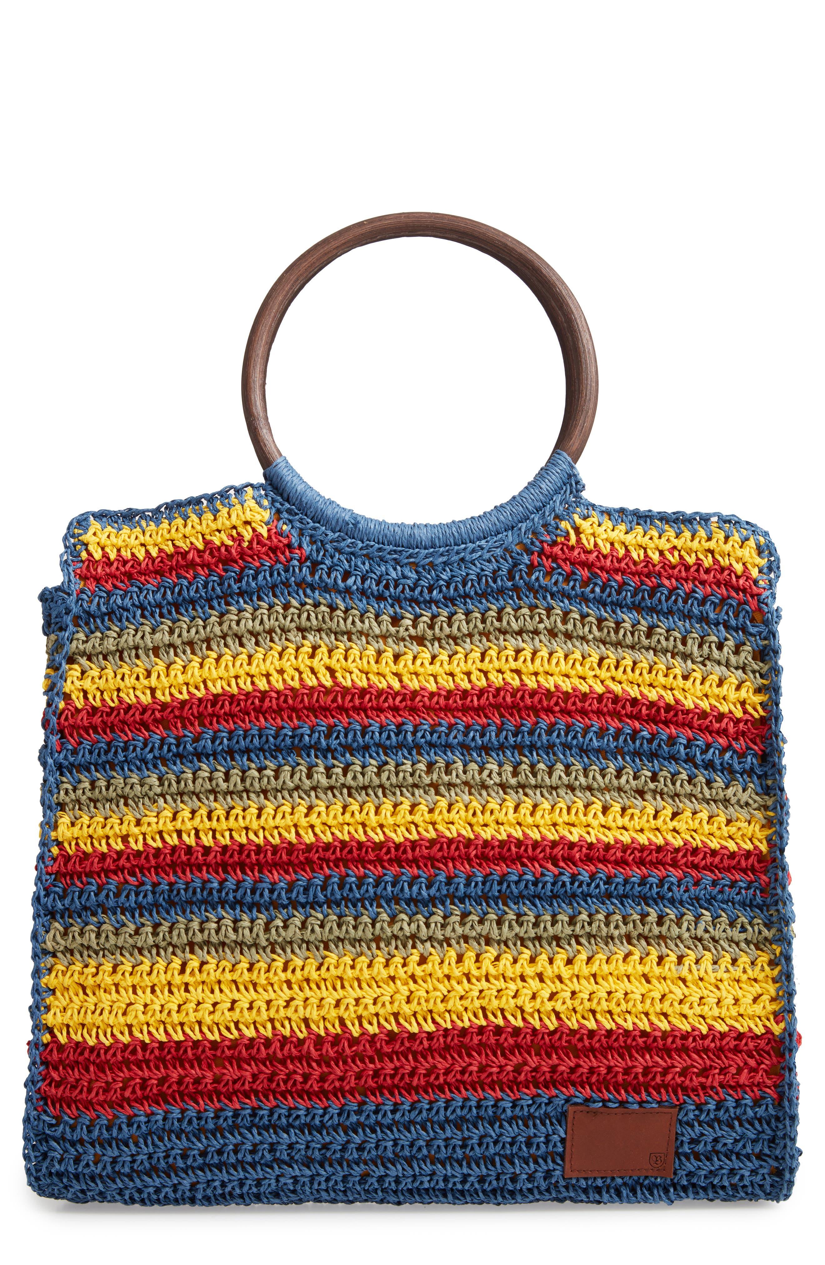 Vintage Handbags, Purses, Bags *New* Brixton Riviera Ring Handle Tote - Blue $69.00 AT vintagedancer.com