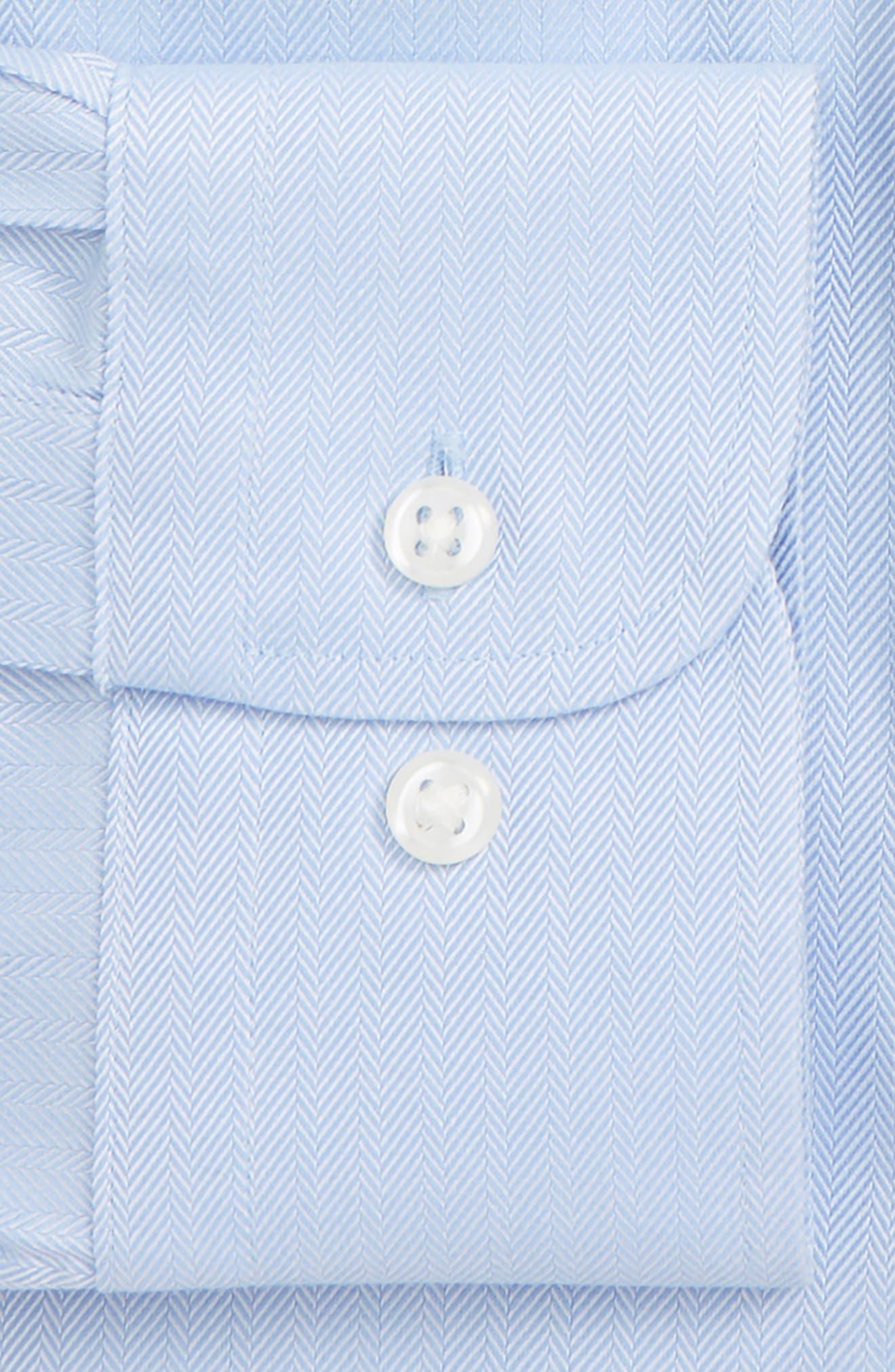 ,                             Smartcare<sup>™</sup> Classic Fit Herringbone Dress Shirt,                             Alternate thumbnail 4, color,                             425