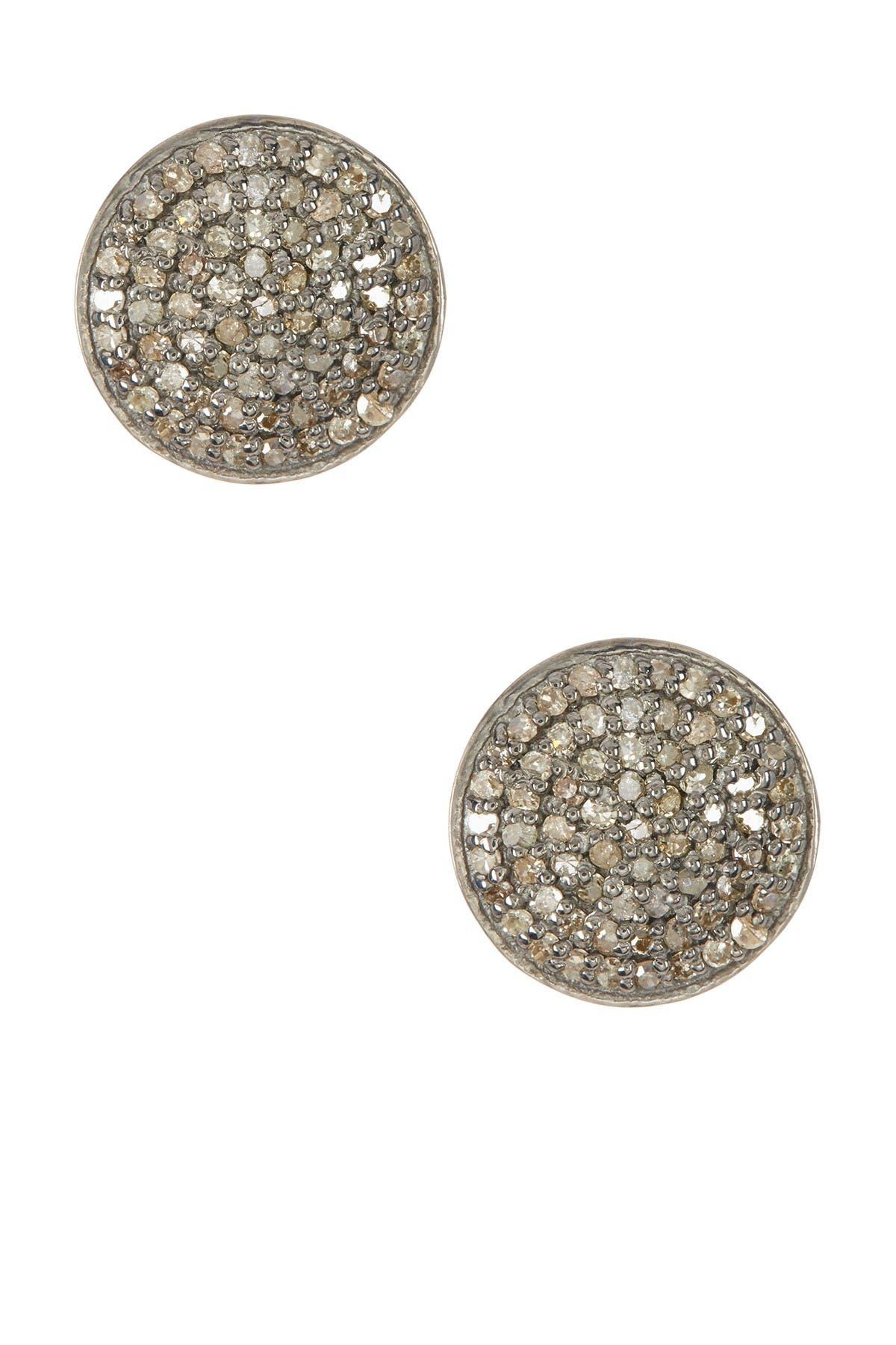 Image of ADORNIA Imogen Champagne Diamond Earrings - 1.00 ctw