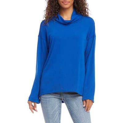 Karen Kane Cowl Neck Pullover, Blue