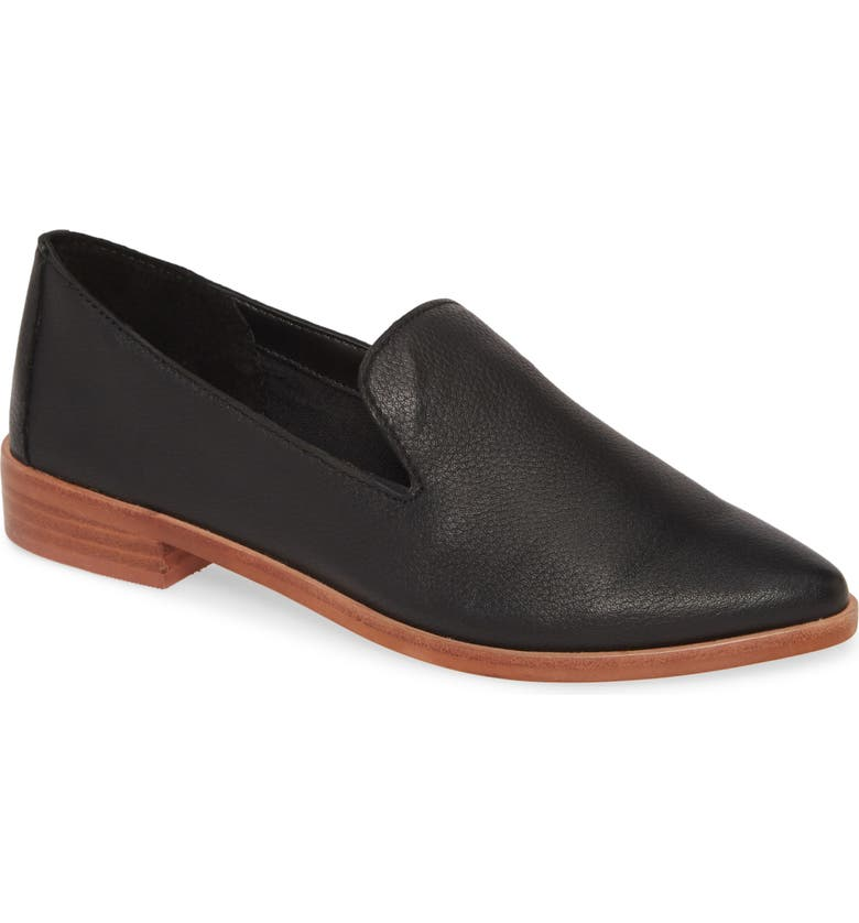 TREASURE & BOND Kena Loafer, Main, color, BLACK LEATHER