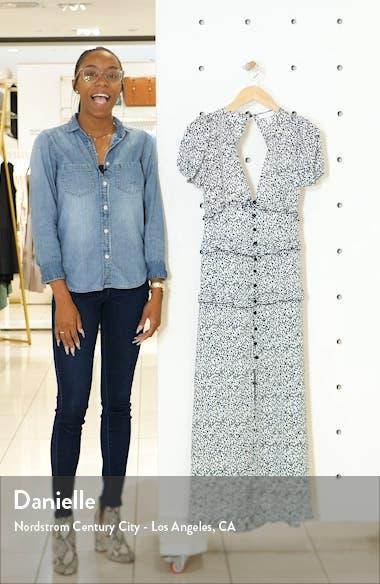 Spot Print Button Midi Dress, sales video thumbnail