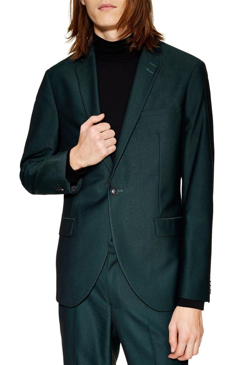 TOPMAN Banbury Slim Fit Suit Jacket, Main, color, 300