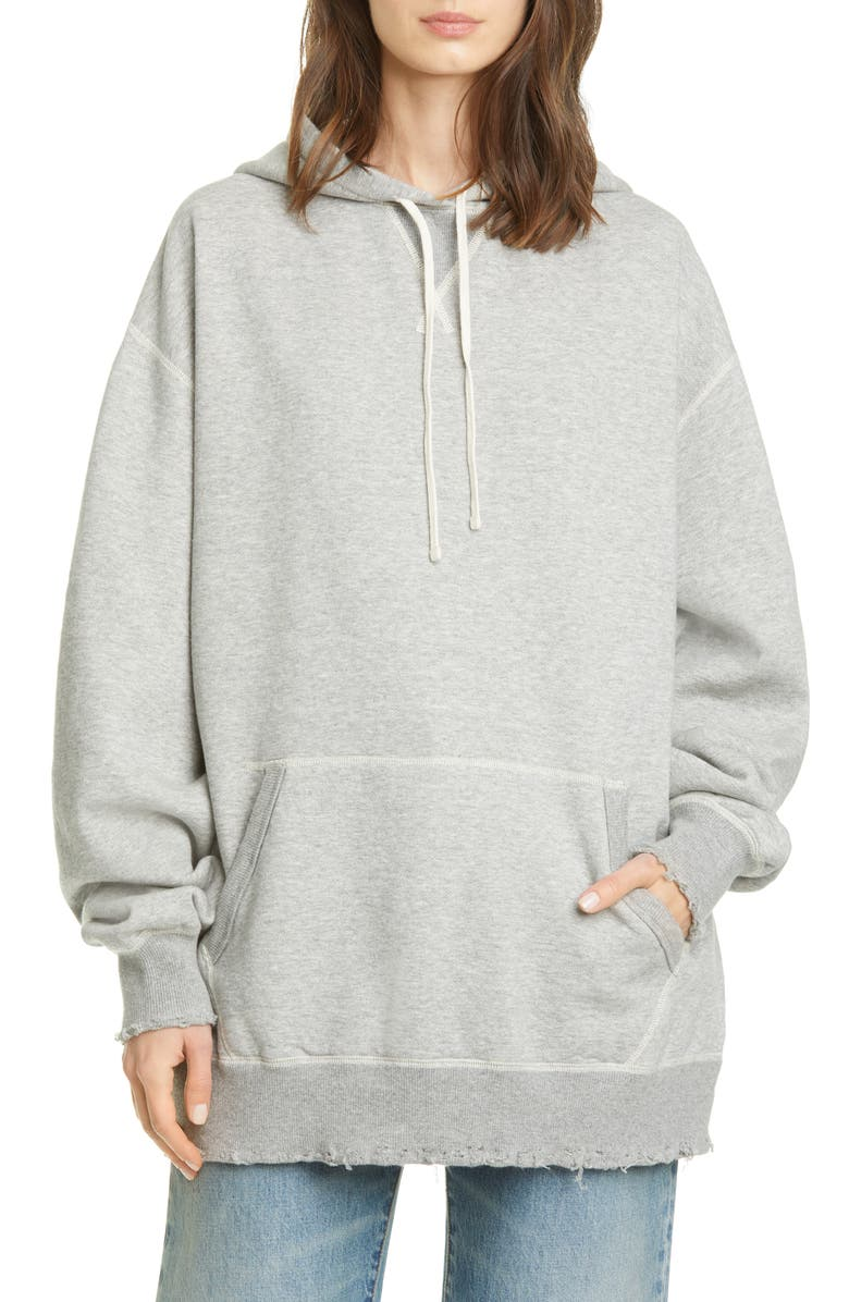 R13 Vintage Hoodie, Main, color, HEATHER GREY
