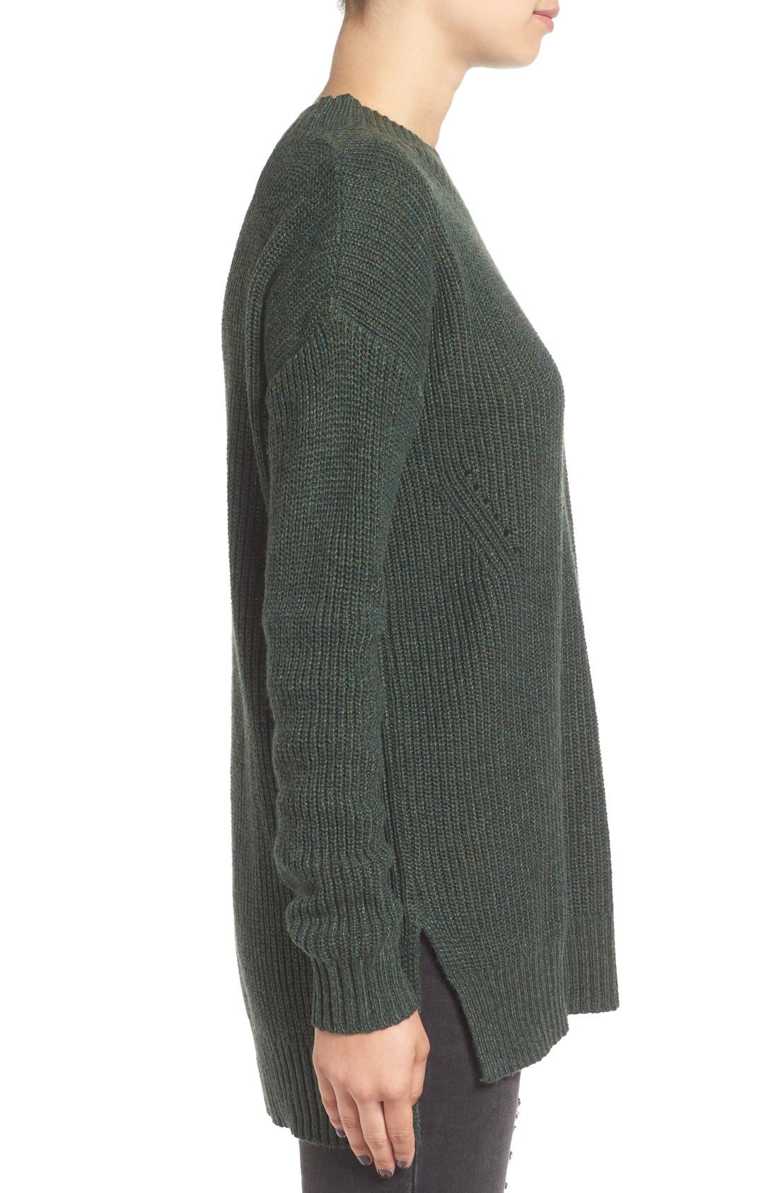 ,                             Ribbed Mock Neck Pullover,                             Alternate thumbnail 14, color,                             310