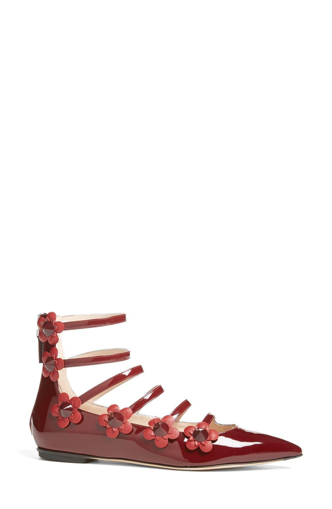 ,                             'Flowerland' Strappy Flat,                             Alternate thumbnail 12, color,                             601