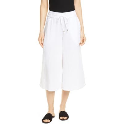 Eileen Fisher Organic Cotton Culottes, White