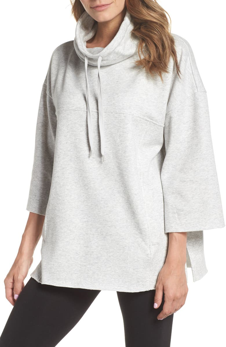 UGG<SUP>®</SUP> Astrid Poncho, Main, color, SEAL HEATHER