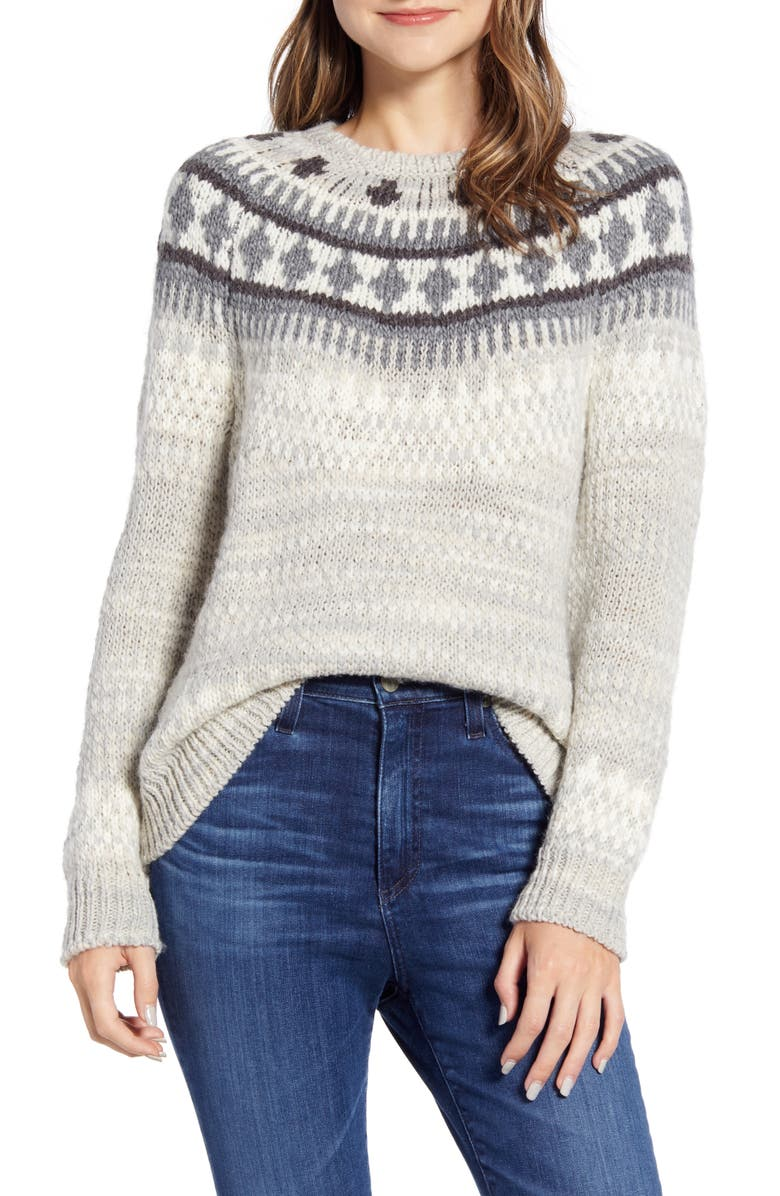 LUCKY BRAND Geo Pattern Sweater, Main, color, 030